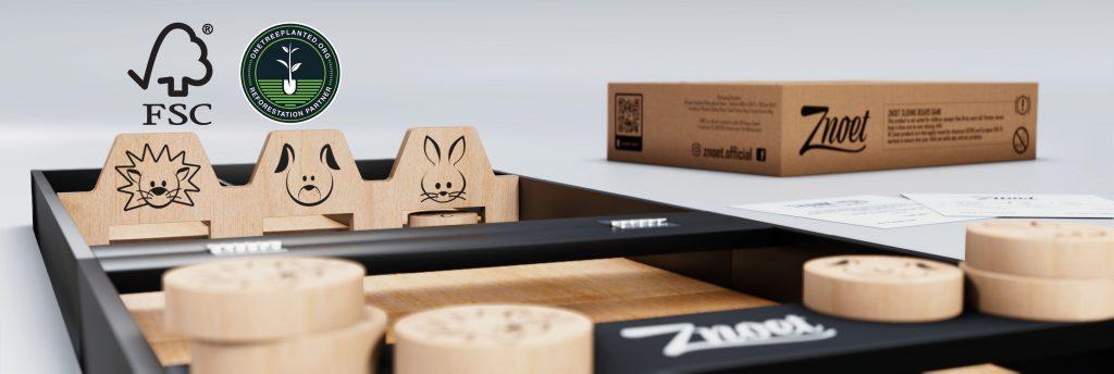 Znoet - FSC Wood Sliding Board Game